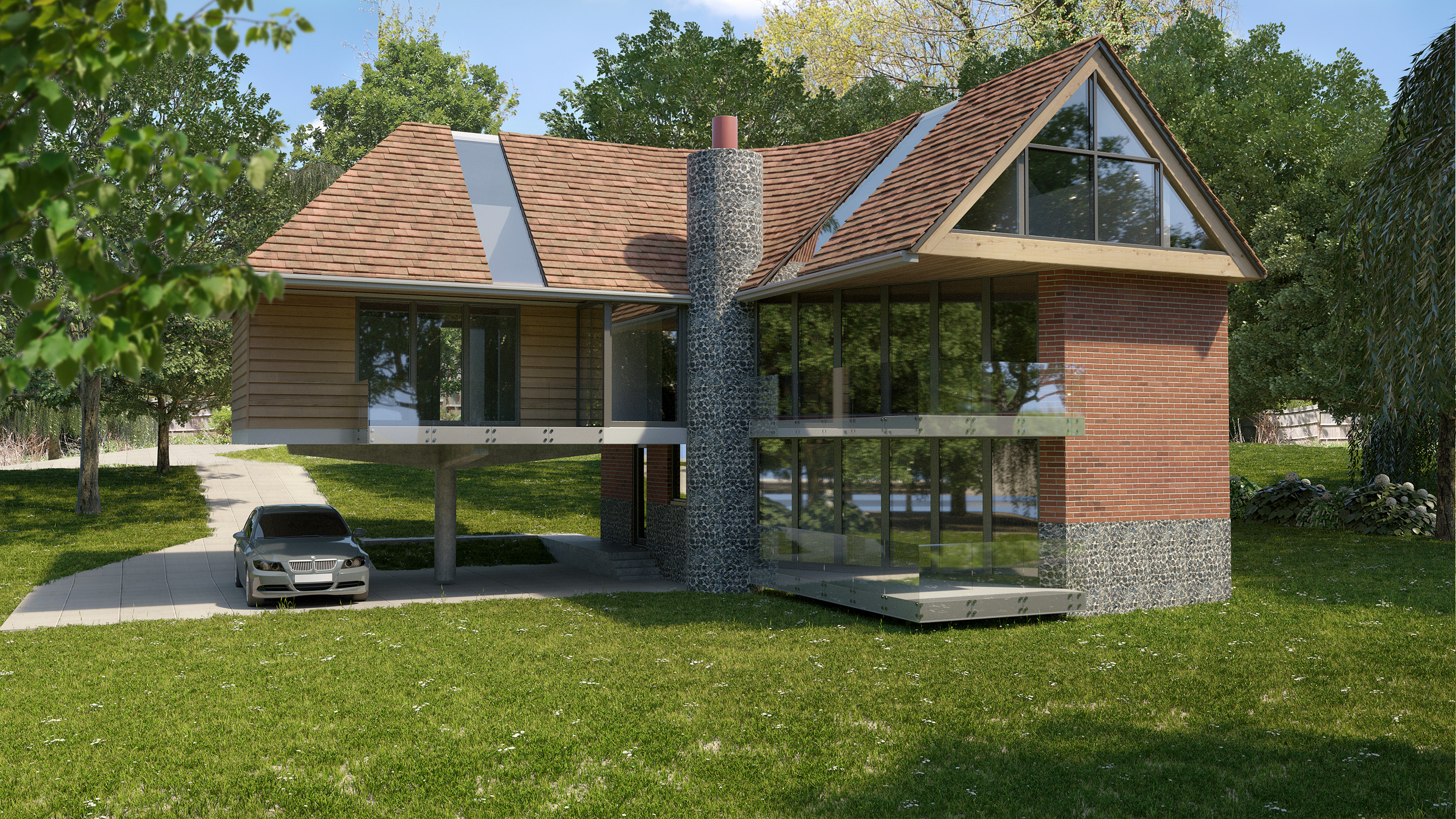 Local Architecture firms in Newbury, Inspiration Architects, front of newly designed and constructed home in Bracknell