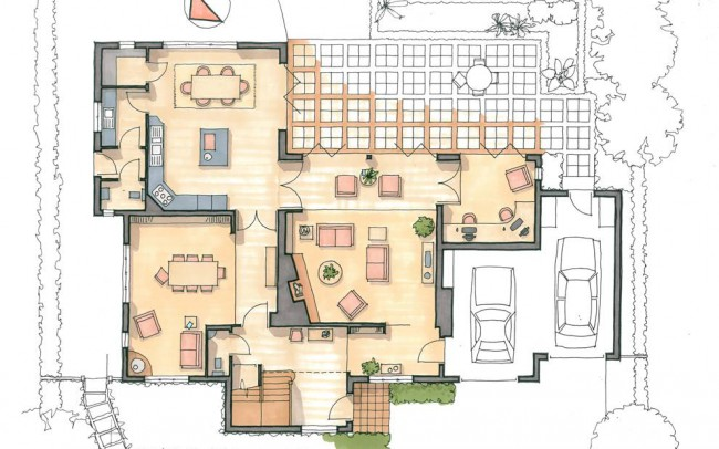 Ground floor house extension design plans by Inspiration Architects