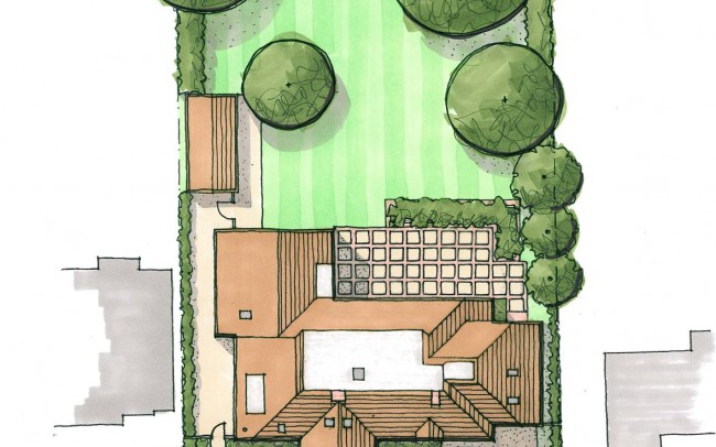 Lanscape and house extension design plans by Inspiration Architects