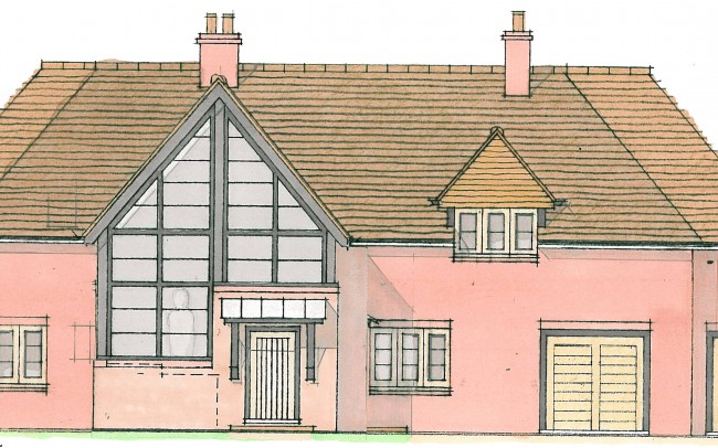 Front of house extension design plans by Inspiration Architects