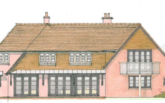 Front of house extension design plans alternate by Inspiration Architects