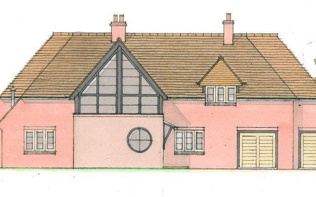 Back of house extension design plans alternate by Inspiration Architects