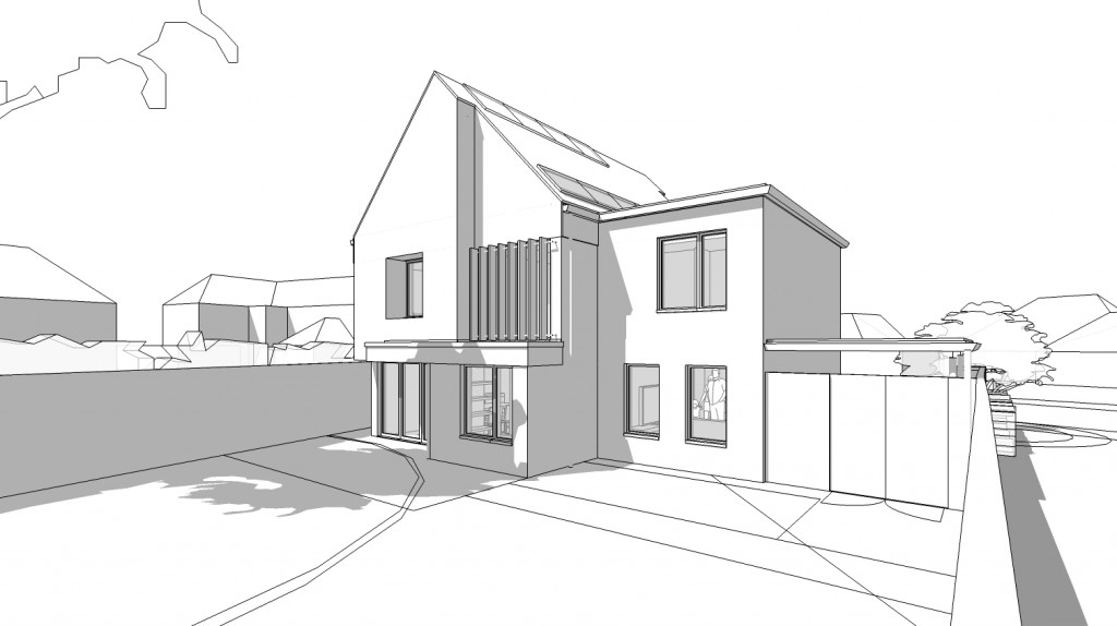 Architects in Newbury, concept art of New House, Newbury's design, by Inspiration Architects