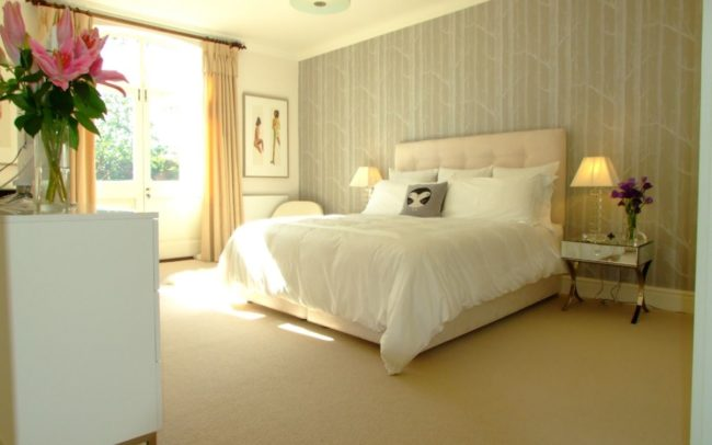 View of bedroom refurbishment in Newbury by Inspiration Architects.